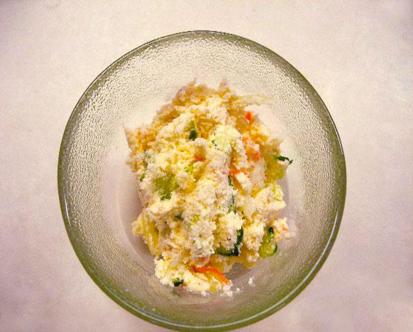 山の楽校 田舎レシピ おからサラダ